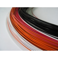Quality Polyester 3.5mm Shaped Coated Wire Aluminum Carbon Stainless Steel Core for sale