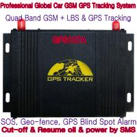 Quality GPS107A Professional Car Safety GPS Vehicle Tracker W/ Cut-off & Resume oil & power by SMS for sale