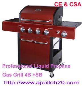Quality Professional Liquid Propane Gas Grill 4B +SB for sale