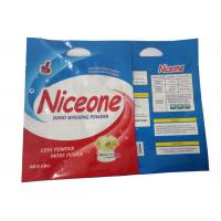 Buy cheap Hand Washing Powder Plastic Zipper Pouch With 2 Handle Anti- Fake Label from wholesalers