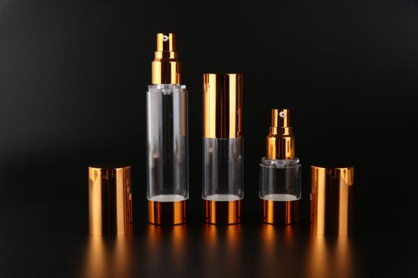 Buy UKMS17 15ml-30ml-50ml UKPACK Acceptable AS Custom cosmetic Gold alumina vacuum bottle at wholesale prices