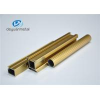Quality Standard Polishing Golden Extruded Aluminum Framing For Decoration Comply to GB5237.1-2008 for sale