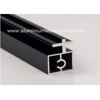 Quality Black Anodized Extruded Aluminium Profiles Channel Irregularity Shape Long Durability for sale