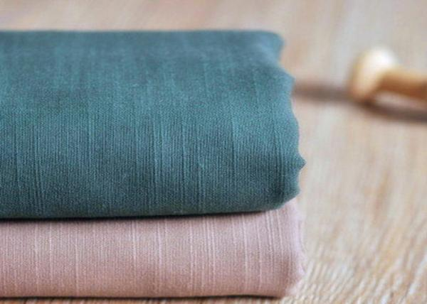 Buy Slub Plain 100 Cotton Canvas / Semi - Bleached Dyeing Cotton Fabric at wholesale prices