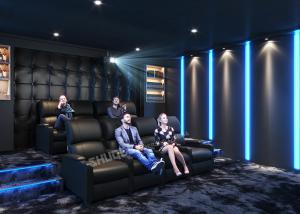 Quality Movie Reclining Sofa Chairs For Home Cinema System With Amplifier,3D Projector for sale