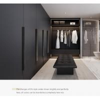 Buy cheap Grey Cloakroom Wooden Clothes Closet Customized Melamine Veneer Environmental from wholesalers