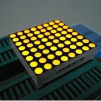 Buy cheap Yellow 3mm 8x8 Dot Matrix Led Display With White Dots Black Surface from wholesalers