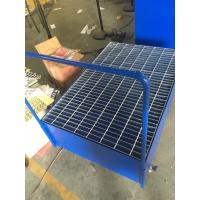 Quality Galvanized Steel Pallet Spill Containment Drum Platform For Multi Drums Storing trolley for sale