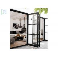 Quality Outside and Inside Openable Aluminium Swing Door 15mm Thickness for sale