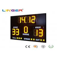 Buy cheap Athletic Digital Baseball Scoreboard , Baseball Electronic Scoreboard Outdoor from wholesalers