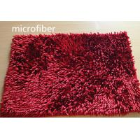 Quality Microfiber Mat Red 40 * 60cm Big Chenille Bathroom Indoor Anti - skid Rubber for sale