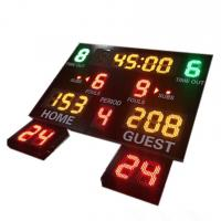 Buy cheap Indoor Use Gym Digital Basketball Scoreboard With 24 Seconds Shot Clock from wholesalers
