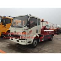 Quality 120HP Engine Lifting 5000KG / 5T Light Flatbed Tow Truck For Car Accident for sale