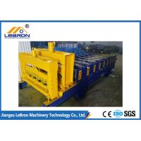 Buy cheap Automatic Glazed Tile Roll Forming Machine , PLC Control Roof Tile Manufacturing from wholesalers
