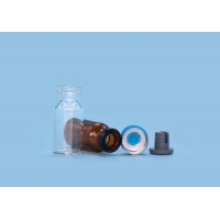 Quality Clear Capped Hot Stamping Pullring Injection Glass Vials for sale