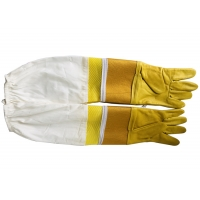 Quality #33 Goat skin yellow thick canvas wrist protector and Half  Ventilated with white cloth sleeve for sale