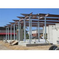 Quality Prefab Fireproof Car Showroom Building Light Steel Frame For Temporary House for sale