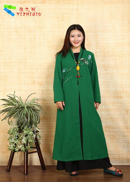 Buy Traditional Chinese Clothing Female Floral Embroidered Coat For Daily Wear at wholesale prices