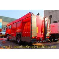 Buy 4 x 2 6m3 Sinotruk Howo Fire Fighting Truck Water Tank With Foam Tan Fire and at wholesale prices