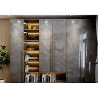 Buy cheap Light Luxury Style Wooden Wardrobe Closet Marble grain Plate E1 Environmental from wholesalers