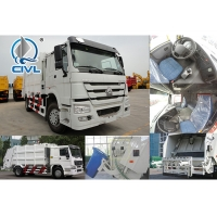 Quality 4 X 2 Driving 10 CBM  Garbage Compactor Truck Of Sinotruck Garbage Truck Euro II Engine 266hp white color for sale