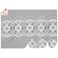 Buy cheap DTM Embroidered Floral Guipure Water Soluble Lace Trim Pass SGS Certificate from wholesalers