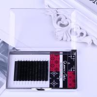 Quality Flat Eyelash Individual Extensions 0.12mm Thickness Two Tips Natural Black Color for sale