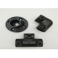 Quality ISO9001 Flange Key Clamp Cast Iron Pipe Fittings Black 131B for sale
