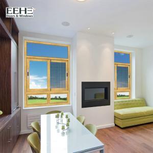 Quality Living Room Anodised Aluminium Sliding Windows / Aluminium Double Glazed Windows 4mm for sale