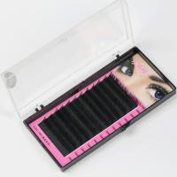Quality Black Full Set D Curl Eyelash Extensions , Individual Salon Eyelash Extensions for sale