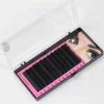 Quality Black Full Set D Curl Eyelash Extensions , Individual Salon Eyelash Extensions for sale
