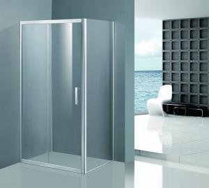 Quality Shinning Glass Shower Enclosures , Chrome Framed Shower Enclosure Coner Sliding Open for sale