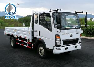 Quality ZZ1047F3315E145 HOWO 4x2 Flat Bed Truck For Machinery Transportation for sale