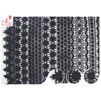Buy cheap 120CM Width Eco Dyeing Black Lace Fabric With Floral Pattern High Color Fastness from wholesalers