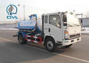 Quality New Vacuum Sewer Cleaning Sewage Suction Truck SINOTRUK 4x2 10 - 12m3 Color optional for sale
