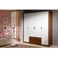 Buy cheap Bedroom Wooden Wardrobe Closet Furniture PVC Vinyl Front Sliding Opening E1 from wholesalers