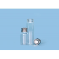 Quality RoHS Easy Puncture 22.5x50mm Headspace Glass Sample Vials for sale