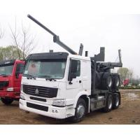 Quality Sinotruk Howo Wood Transport Log Truck With Trailer , Loading 40-60t for sale