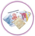 Personalized CPE / LDPE Drawstring Plastic Bags For Girls Underwear / Bra / Bikini / Vest