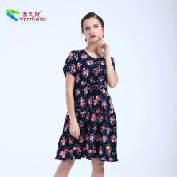 Quality Custom Made Cotton Short Sleeve A Line Dress None Decoration For Tall Women for sale