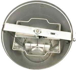 Quality Economic Manual Stainless Steel Honey Extractor 2 Frames Plstic Lid With Honey Gate for sale
