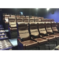 Quality 4 Seats Black PU leather 4D Cinema Motion Chair Pneumatic / Electronic for Home Theater for sale