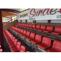 Buy cheap HDPE Plastic Fixed Stadium Seating Polymer HDPE Material With Middle Backrest from wholesalers
