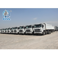 Quality White color RHD Heavy Duty Dump Truck 6X4 Drive Type 15M3 30T load capacity for sale