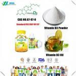 Quality Food Grade Vitamin D3 Powder , Cholecalciferol Vitamin D Oil For SkinCAS 67 97 0 for sale
