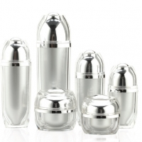 Quality Acrylic Screen Printing Airless Cosmetic Bottles For Personal Care for sale