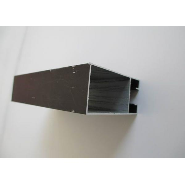 Buy Exterior Fence Railing Custom Aluminum Extrusions Profiles Black Painted at wholesale prices