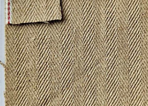 Buy Classic Brown Herringbone Denim Fabric , Twill Jeans Cotton Spandex Denim Fabric at wholesale prices