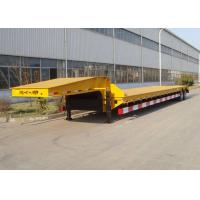 China High Efficiency Semi Low Flatbed Trailer Truck 12000*3000*6mm 2 Axles 50 Tons on sale