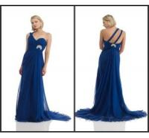 Royal blue Chiffon evening Dress (PM019)